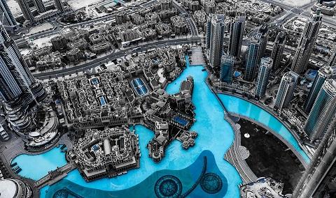 Dubai sett från ovan